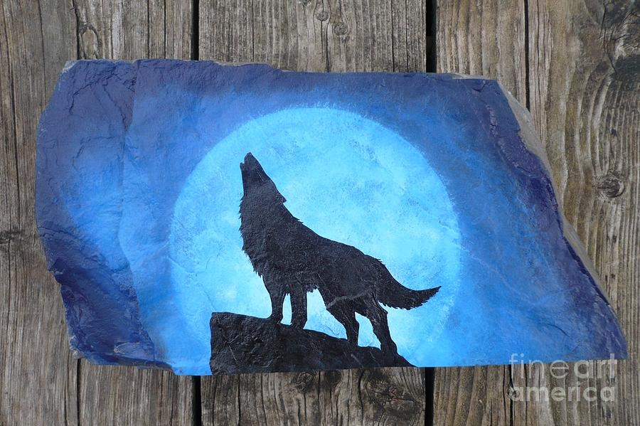 Wolf Howl2 Painting