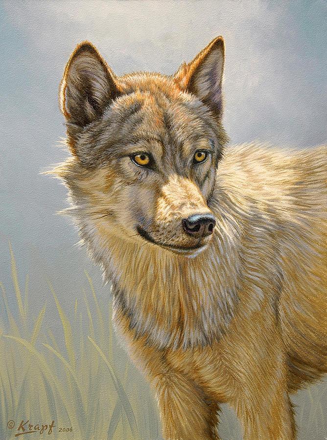 Wolf Portrait Painting