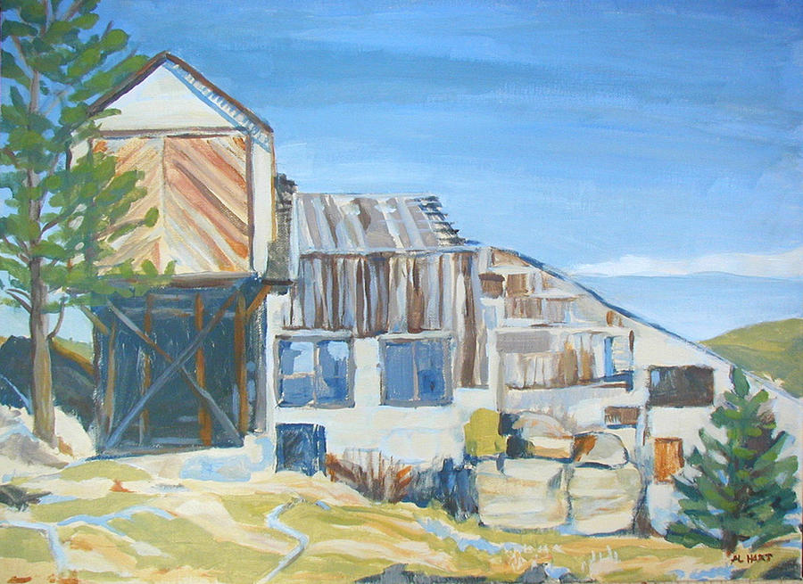 Wolf Tongue Mine Mill Painting
