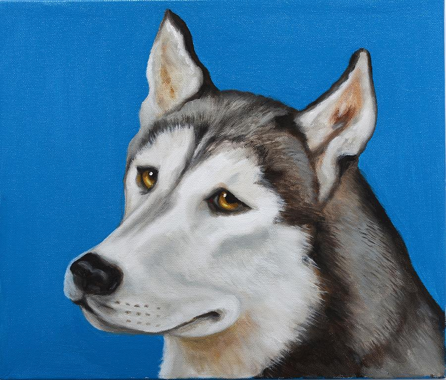 Dog Paintings Painting - Wolfie by Cynthia Olson