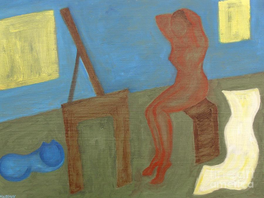 Woman After Bathing Painting