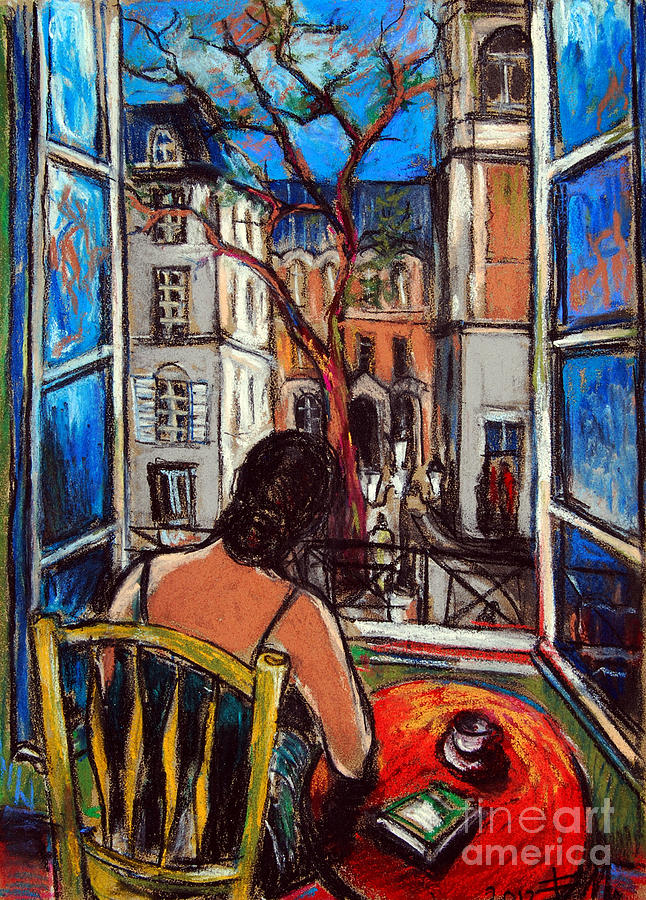 Woman At Window Painting