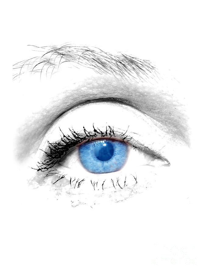 Art Photograph - Woman Blue Eye by Michal Bednarek