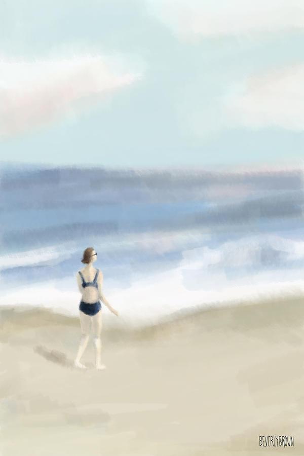 Woman By The Sea Digital Art