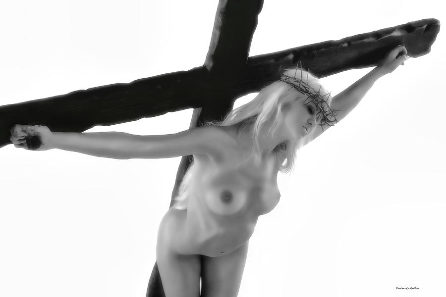 Woman Crucified Photograph  - Woman Crucified Fine Art Print