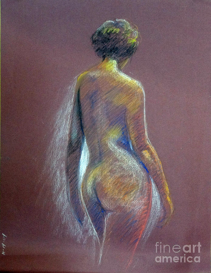 Woman From Back Drawing by Barbara Oertli