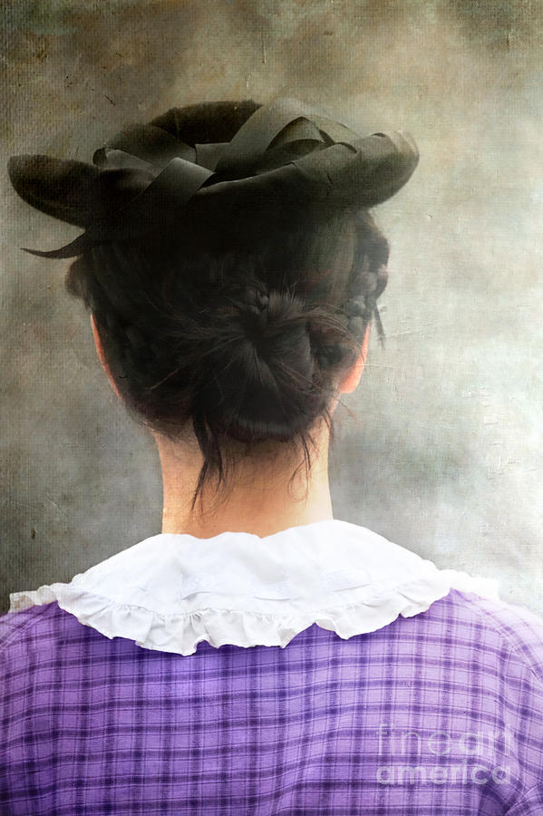 Woman In Black Hat Photograph  - Woman In Black Hat Fine Art Print