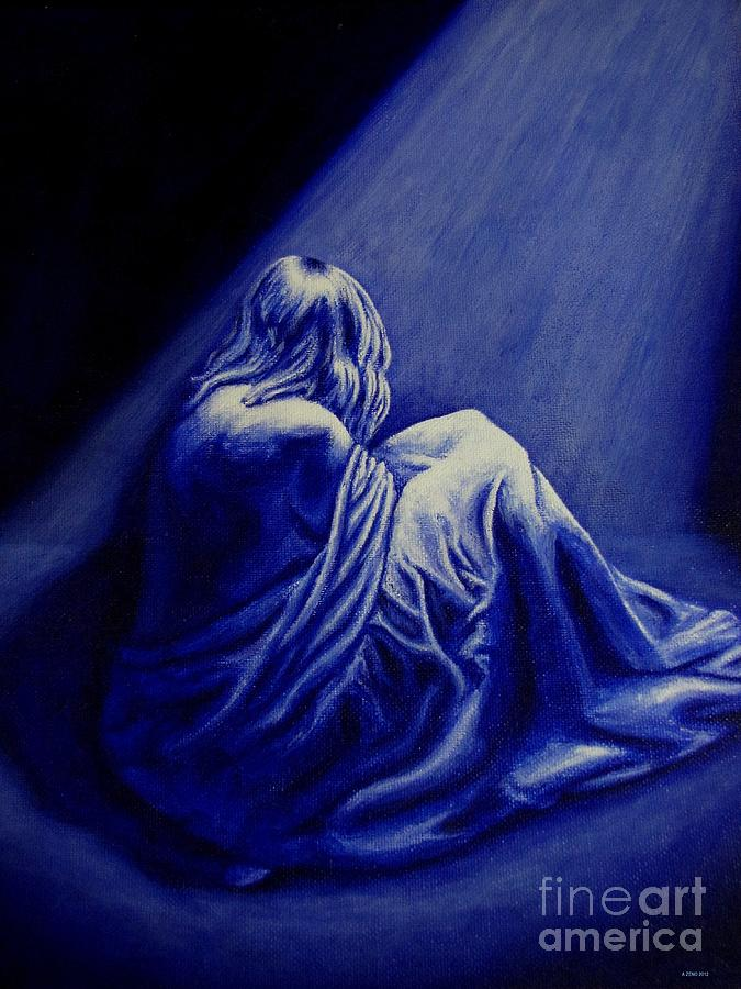 Woman In Despair  Painting  - Woman In Despair  Fine Art Print