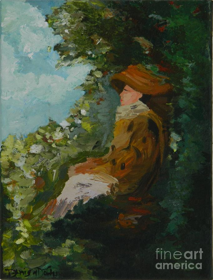 Woman In Garden Painting  - Woman In Garden Fine Art Print