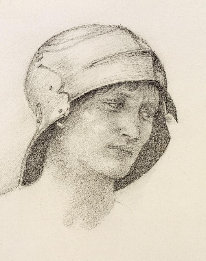 Woman In Hat, Detail From A Sketchbook Drawing