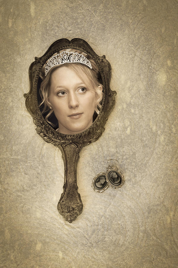 Woman In Mirror Photograph  - Woman In Mirror Fine Art Print