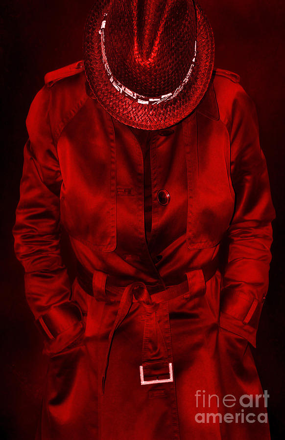Woman In Red Photograph