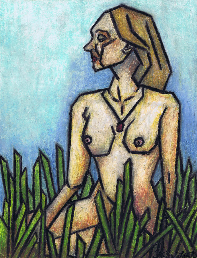 Woman In The Meadow Painting