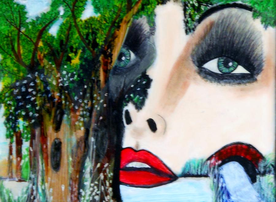 Woman In Trees Painting  - Woman In Trees Fine Art Print