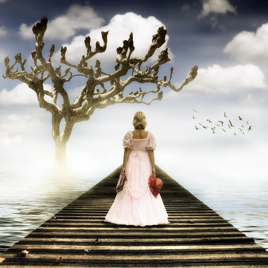 Woman On Pier Photograph  - Woman On Pier Fine Art Print