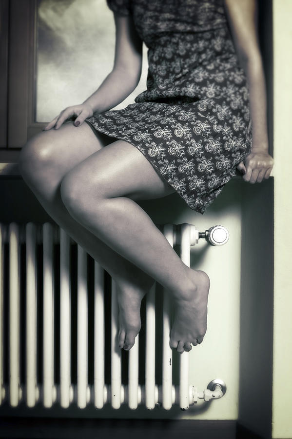 Woman On Window Sill Photograph  - Woman On Window Sill Fine Art Print