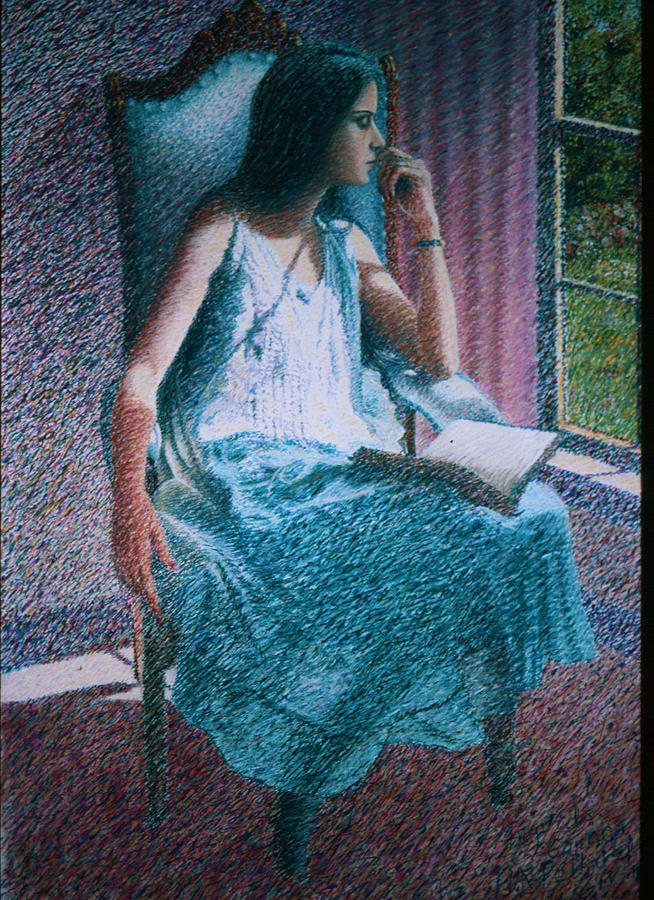 Reading Painting - Woman Reading by Herschel Pollard