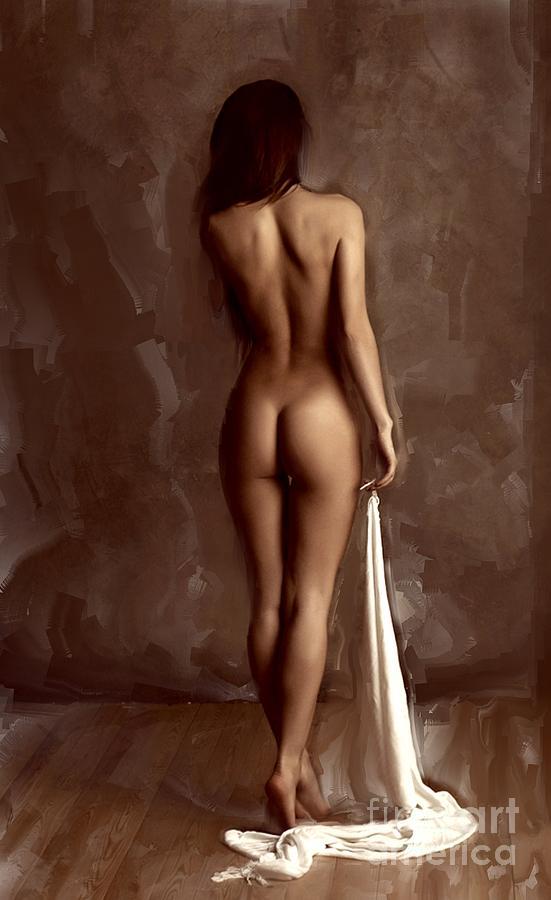 Голые девушки со спины фото