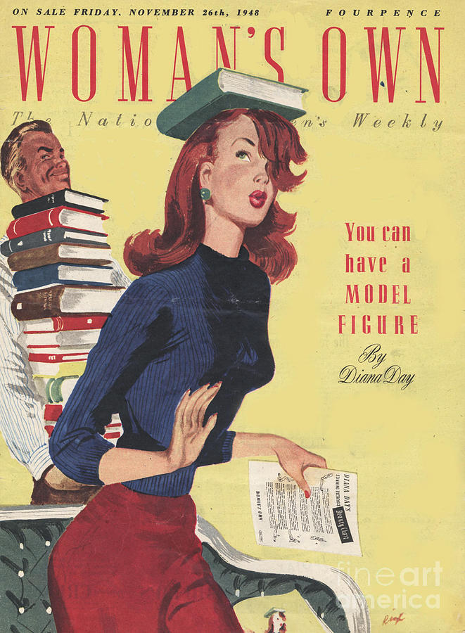 1940Õs Drawing - WomanÕs Own 1948 1940s Uk Models by The Advertising Archives