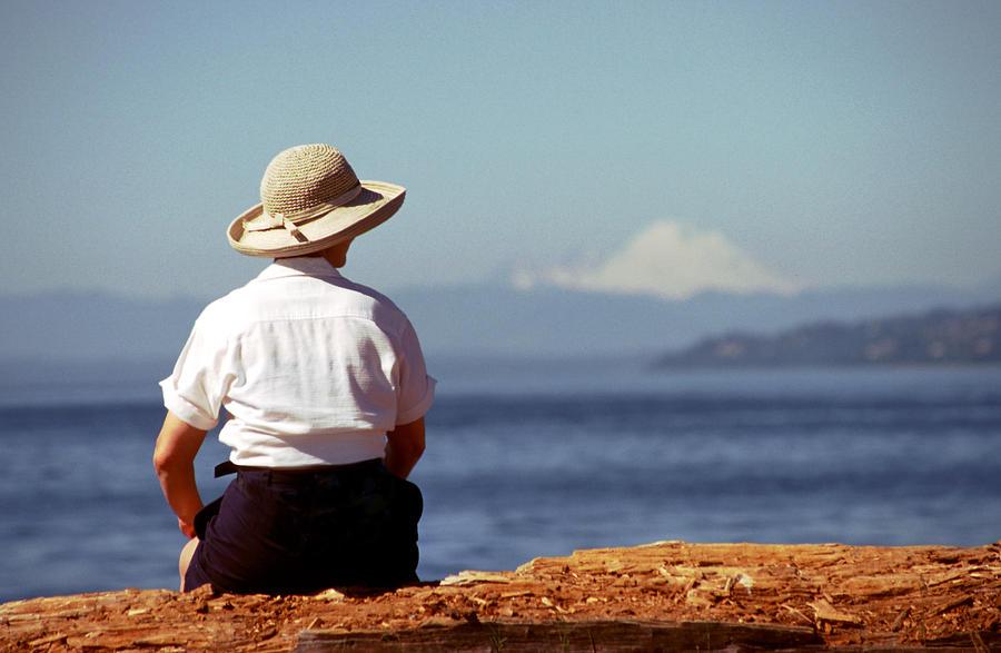 Seated Photograph - Womans Solitude by Glenn McGloughlin