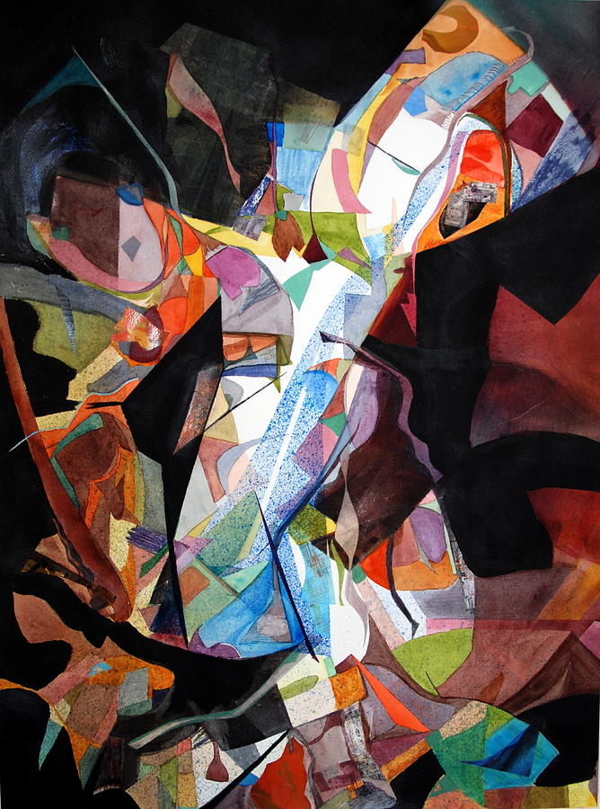 Abstract Painting - Womansong by Rebecca Zdybel