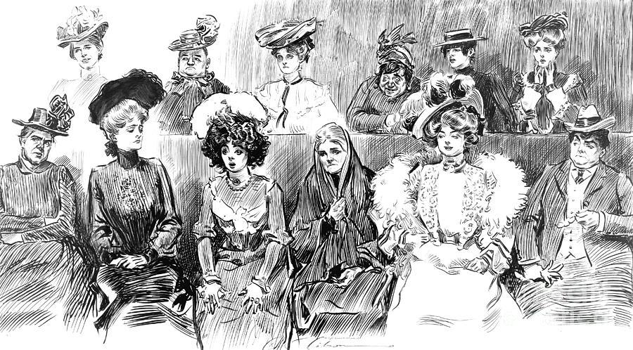 Women Jurors 1902 Photograph - Women Jurors 1902 by Padre Art