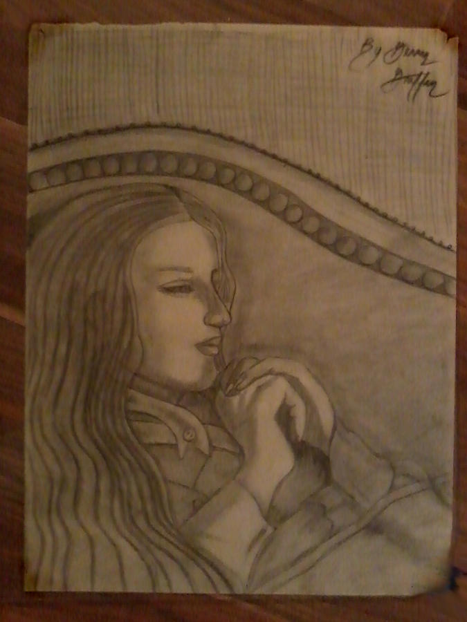 Charcoal Art Drawing - Women Resting . by Gerald Griffin