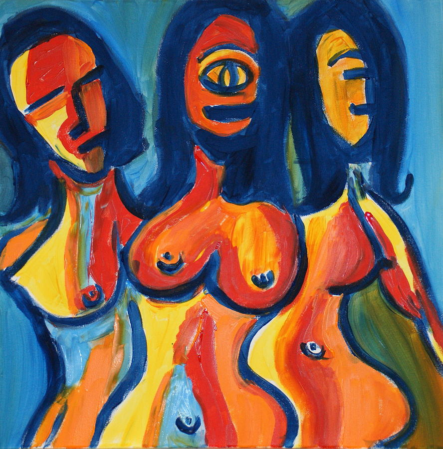Women Painting - Women2 by Sandra Conceicao