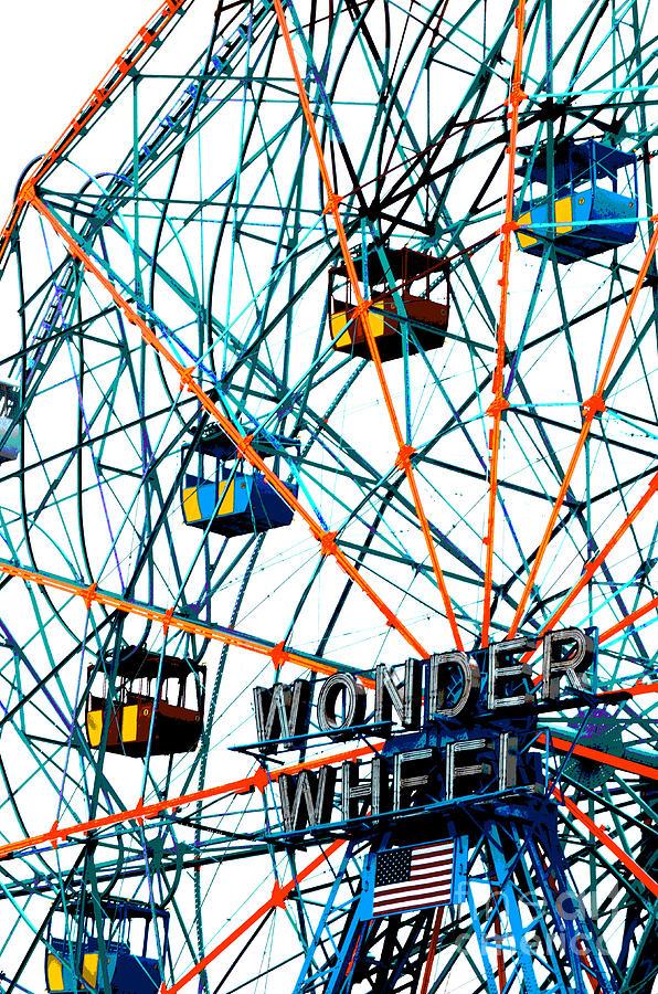 Wonder Wheel Pop Art  Digital Art