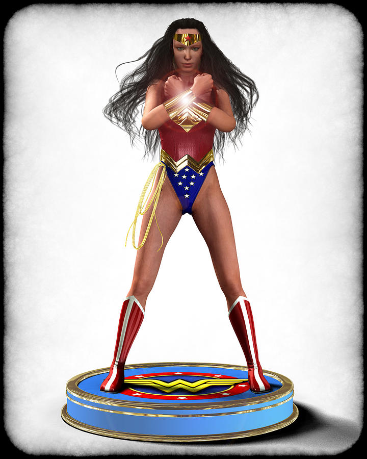 Wonder Woman V2 Digital Art  - Wonder Woman V2 Fine Art Print