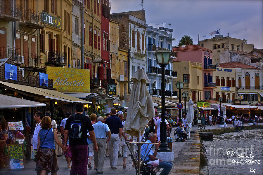 Wonderful Remembers  Chania Crete Greece. Photograph