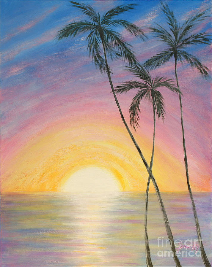 Wonderful Sunrise In Paradise2 Painting
