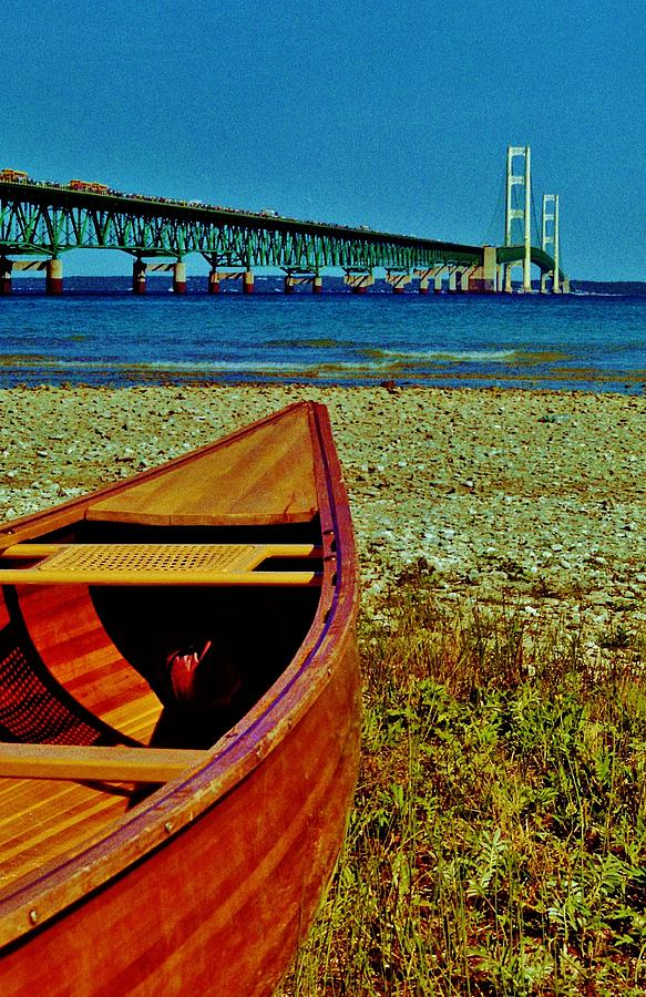 Wood canoe and the big mac photograph by daniel thompson for The big canoe