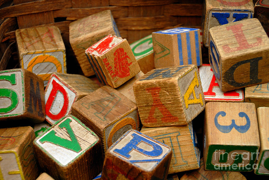 Wooden Blocks With Alphabet Letters Photograph