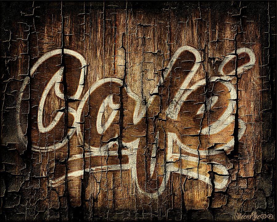 Wooden Cafe Sign Digital Art