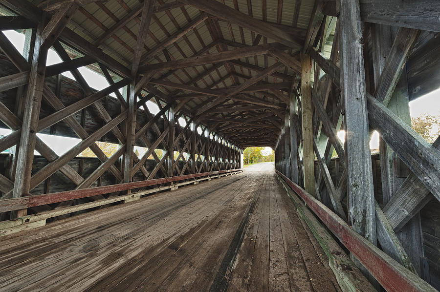 Wooden Covered Bridge Photograph  - Wooden Covered Bridge Fine Art Print