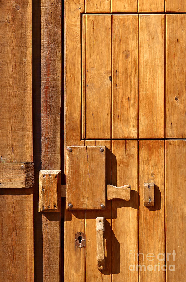 Wooden Door Detail Photograph  - Wooden Door Detail Fine Art Print