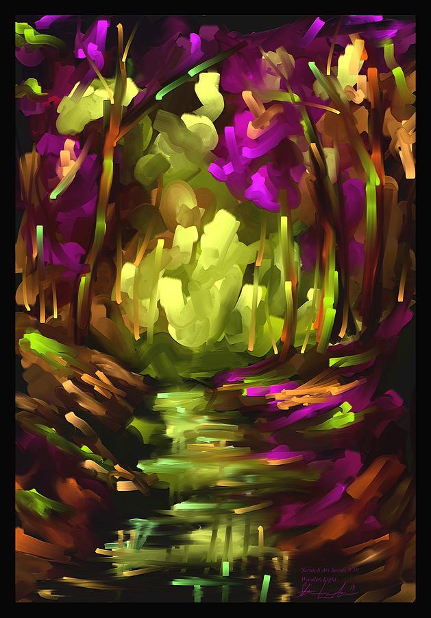 Wooden Light - Scratch Art Series - # 10 Painting