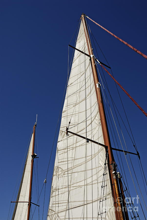 Wooden Masts And Sails Photograph