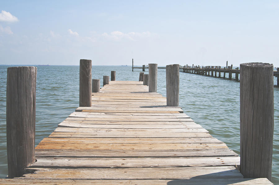 Wooden pier in shoreacres texas photograph by angela bonilla for La porte tx water department