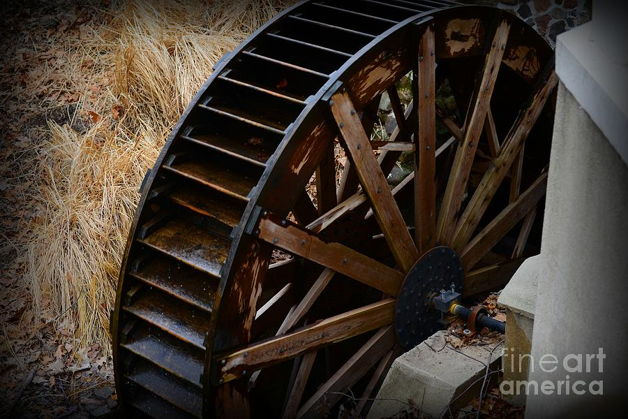Wooden Water Wheel Photograph
