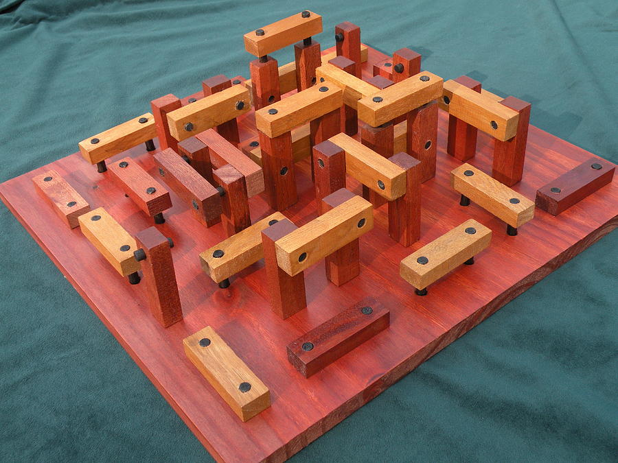 Wood Sculpture - Woodhenge by Dave Martsolf