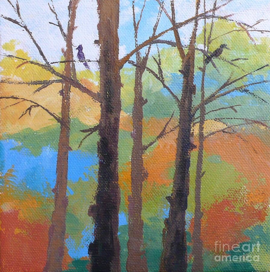 Bird Painting - Woodland #4 by Melody Cleary