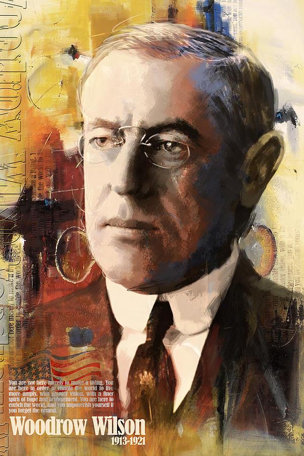 Woodrow Wilson Painting - Woodrow Wilson by Corporate Art Task Force