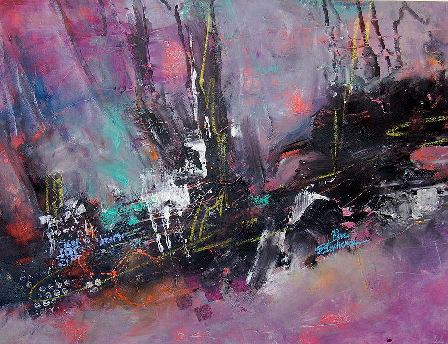 Woods Abstract Painting