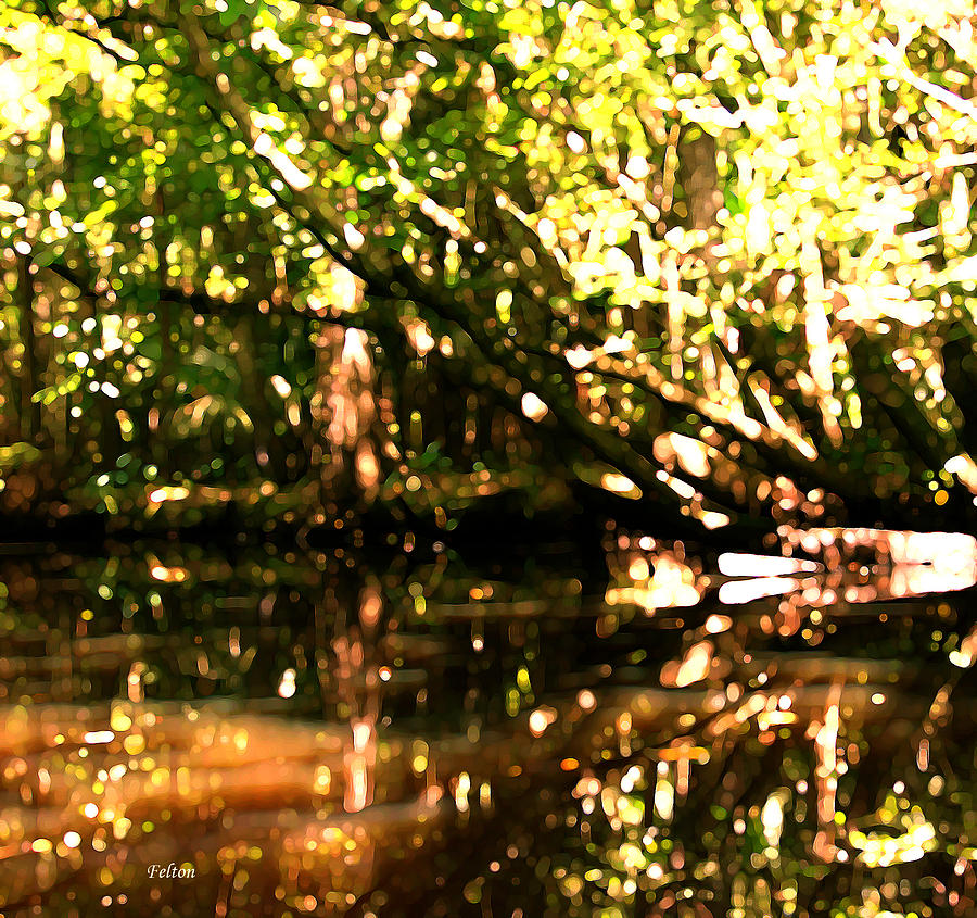 Woods On Creek 7 Digital Art  - Woods On Creek 7 Fine Art Print