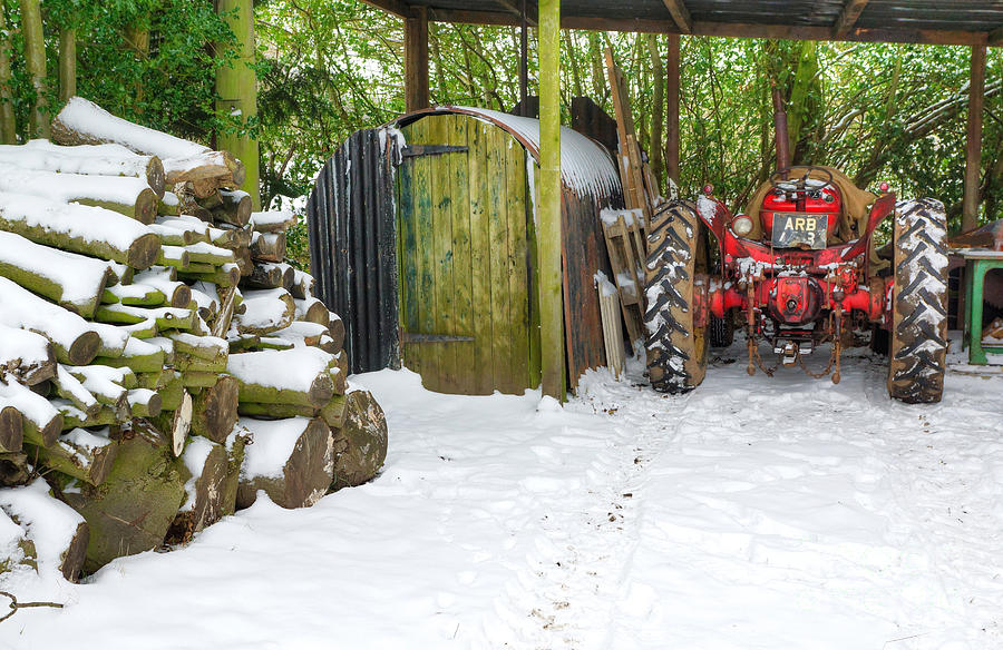 Woodshed In Winter Photograph