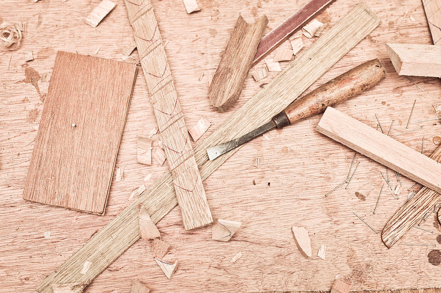 Background Photograph - Woodwork by Tom Gowanlock