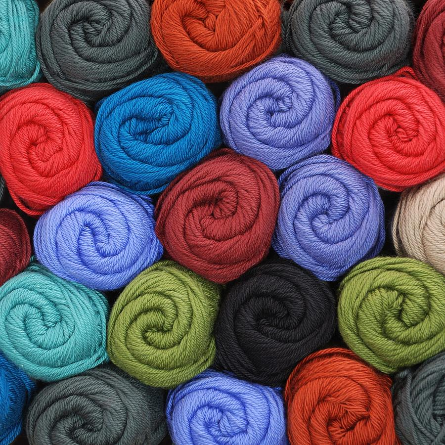 Wool Yarn Skeins Photograph
