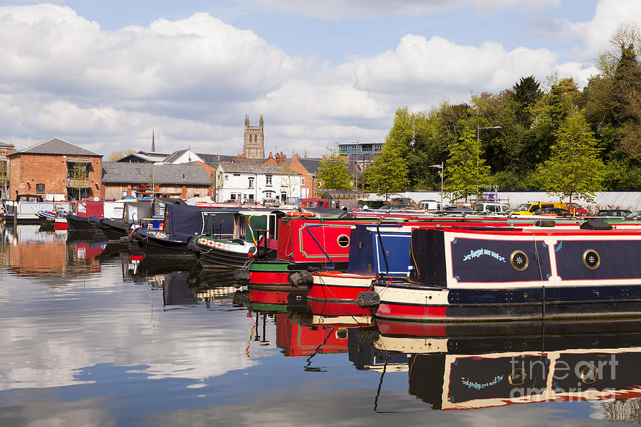Worcester Diglis Basin Narrow Boats Photograph
